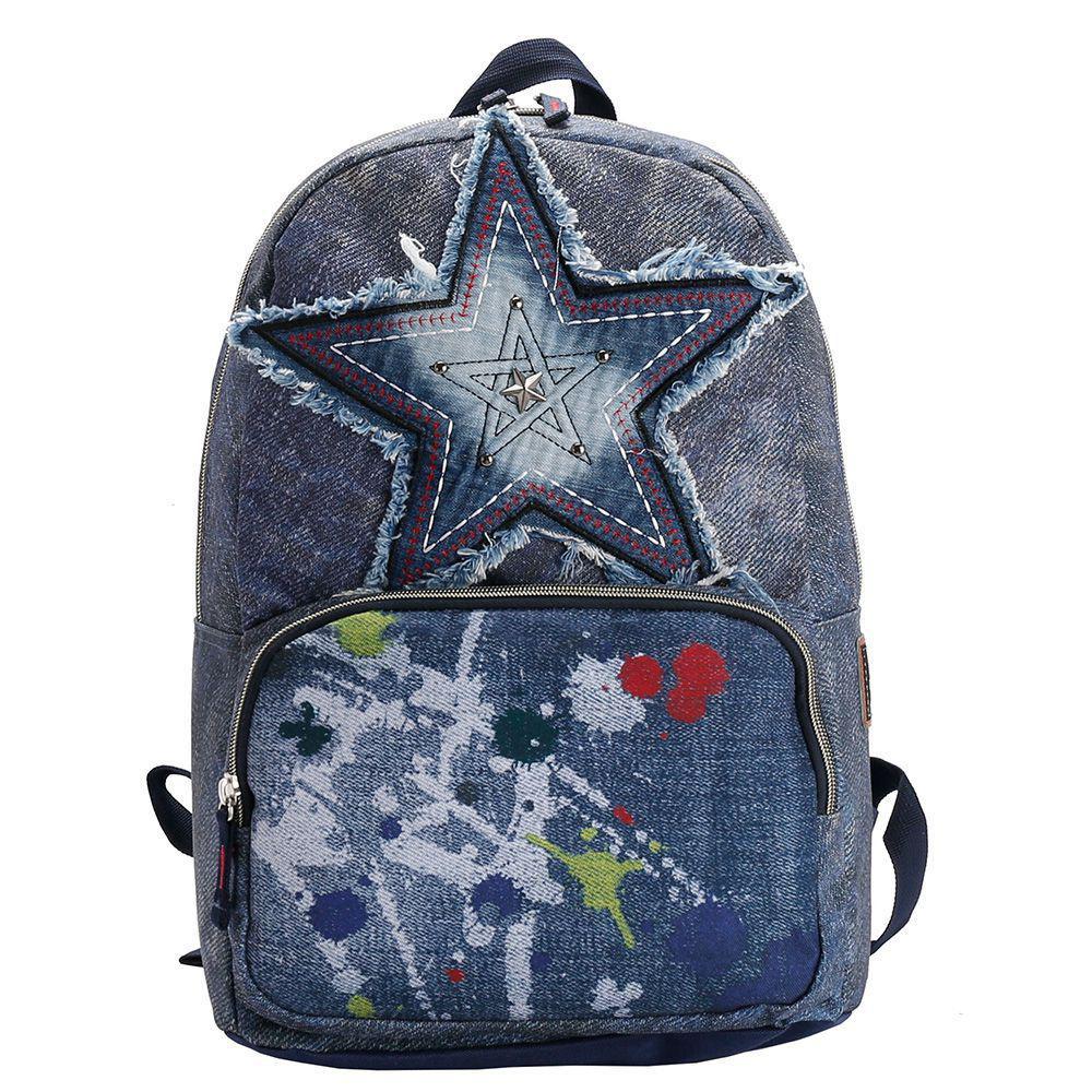 c9132ff21 Mochila Teen Jeans Para Notebook - Estrela - Republic Vix - Chenson R$  120,00 à vista. Adicionar à sacola