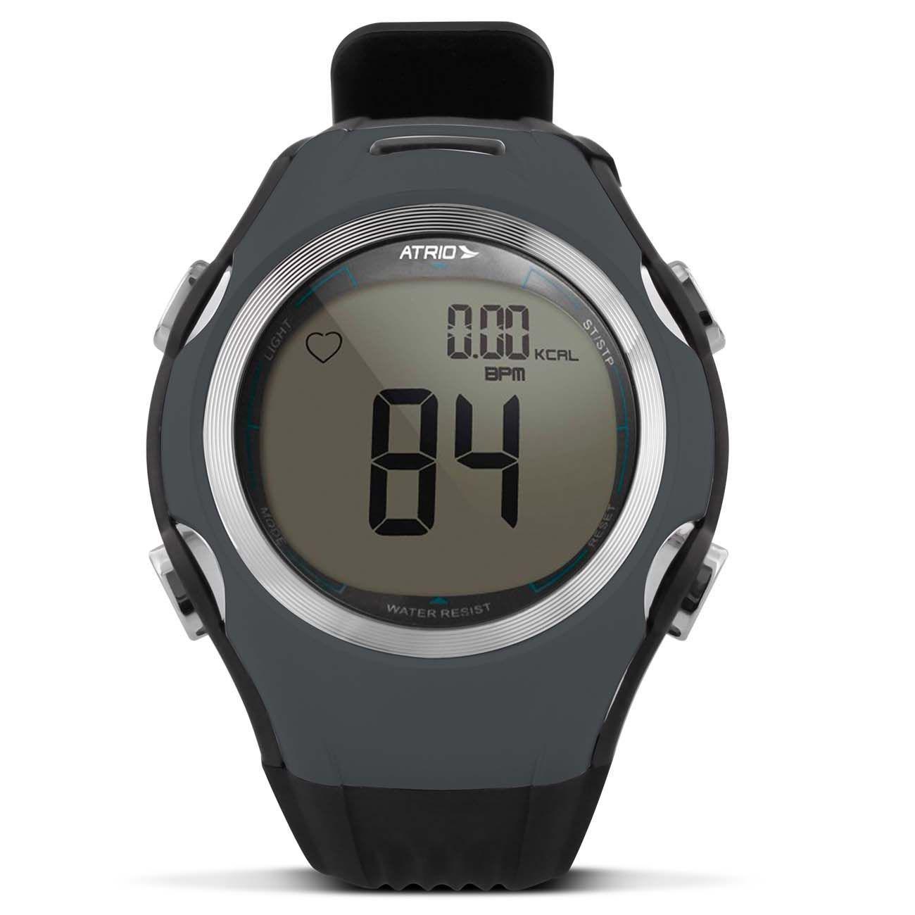 e0a470973f0 Monitor Cardíaco Smart Run Atrio HC008 Preto e Cinza Relógio Esportivo  Contador Calorias Com Cinta R  118