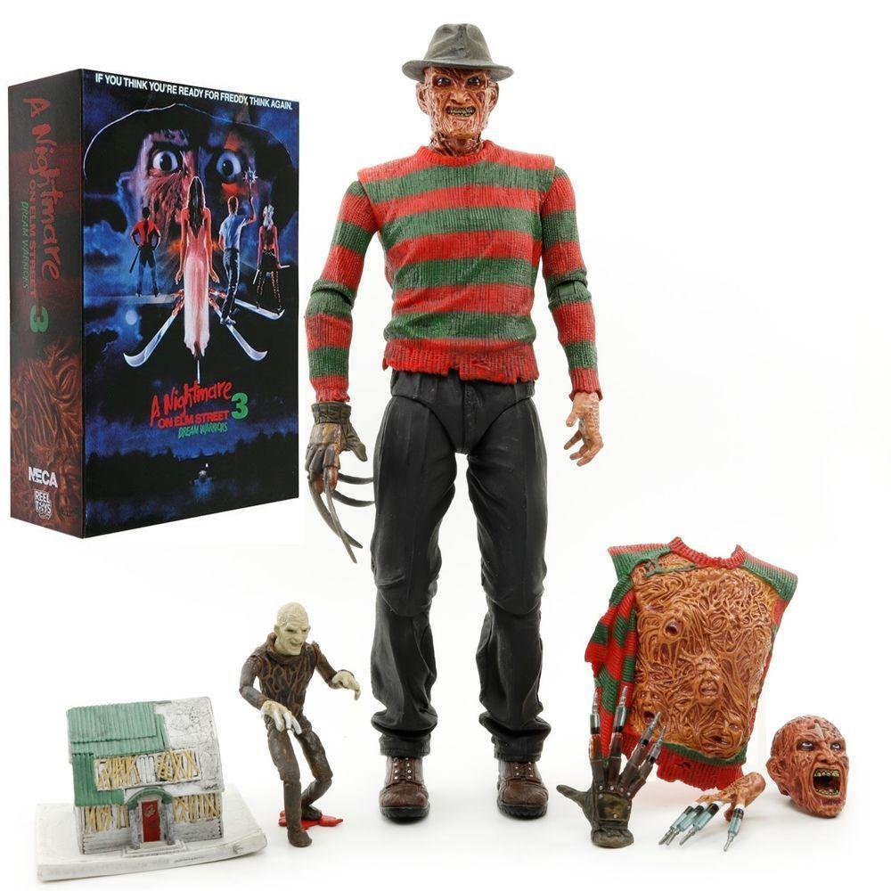 "NIGHTMARE ON ELM STREET 7/"" FREDDY KRUEGER Action Horror Figures Toy NECA"