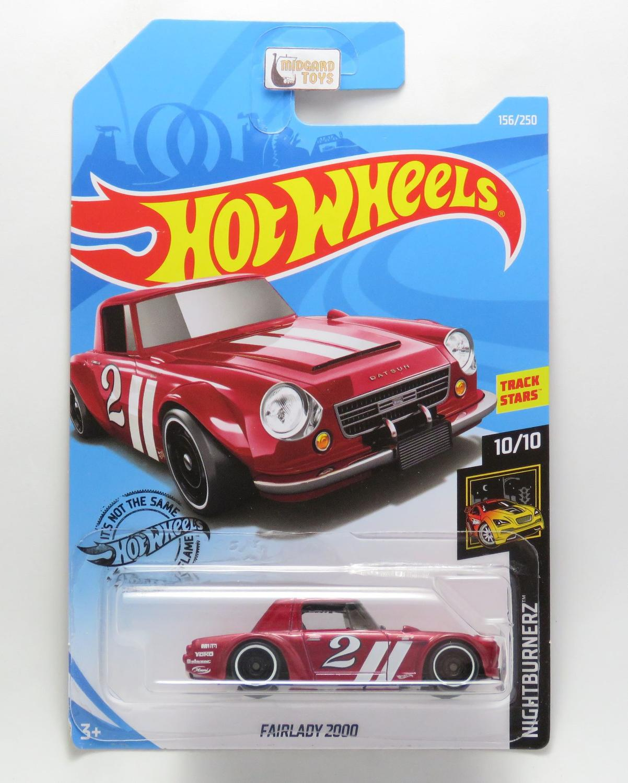 ★ Hot Wheels 2019 No 156//250 ★ DATSUN FAIRLADY 2000 *Nightburnerz* 10//10