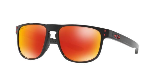 fa8a3c2e37343 Oakley HOLBROOK R OO9377 937707 Preto Lente Polarizada Vermelho Ruby Prizm Tam  55 R  519