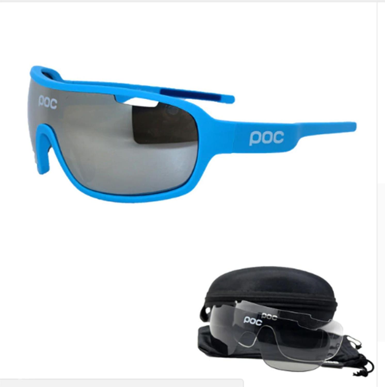 f9bd0fabe Óculos Ciclismo com 3 lentes e Estojo Varias Cores - POC R$ 120,00 à vista.  Adicionar à sacola