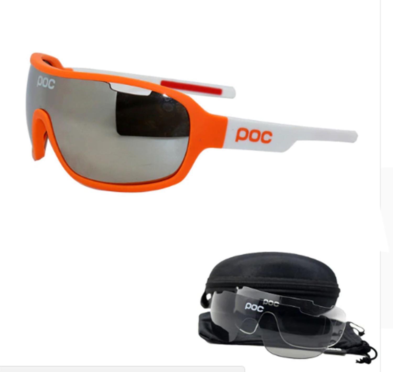 d06d037bc Óculos Ciclismo com 3 lentes e Estojo Varias Cores - POC R$ 120,00 à vista.  Adicionar à sacola