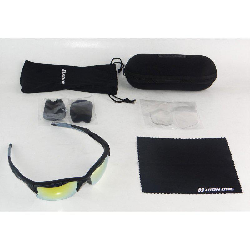 óculos Ciclismo HIGH ONE IRON com 3 Lentes AMAR ESP TRANSP FUME Preto e  Cinza R  80,85 à vista. Adicionar à sacola 88b57fbf3a