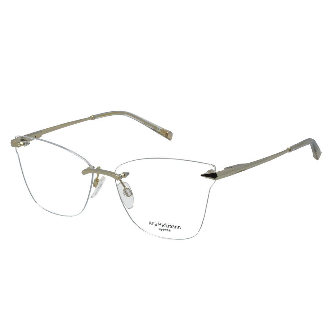 66e54b0dccb4e Óculos de Grau Ana Hickmann Feminino Armação Parafusada AH1371 04B - Metal  Dourado Produto não disponível