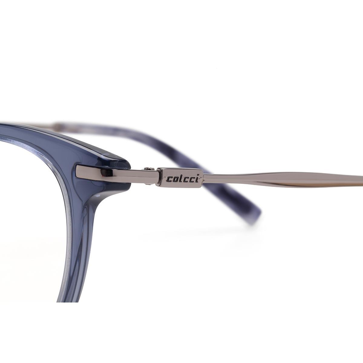 c10f7583b30e4 Óculos de Grau Colcci Feminino C6090 DB4 - Acetato Azul Translucido R   470