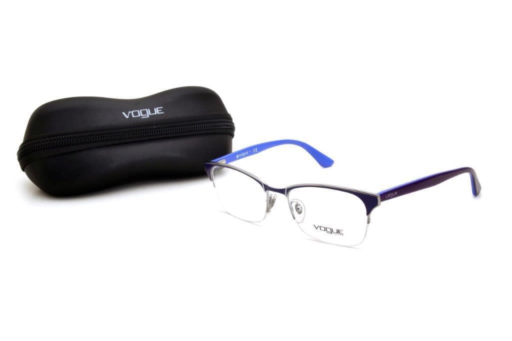 96b01241a Oculos de Grau Feminino Vogue Metal Quadrado Azul R$ 236,50 à vista.  Adicionar à sacola