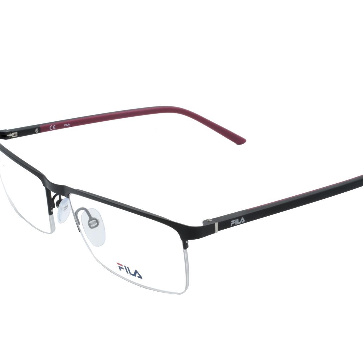 abbff8df82840 Óculos de Grau Fio de Nylon Fila Masculino Metal Preto e Vermelho - VF9839  0531 57 Produto não disponível