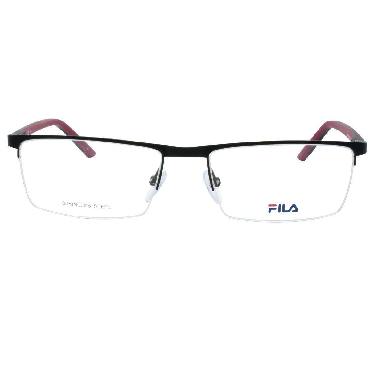3f566a4c3 Óculos de Grau Fio de Nylon Fila Masculino Metal Preto e Vermelho - VF9839 0531  57 Produto não disponível