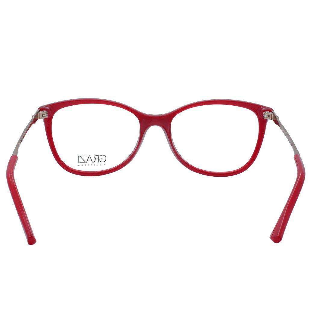 5bcf0ebe9bb0a Óculos de Grau Grazi Feminino GZ3033 E808 - Acetato Vermelho e Metal Bronze  - Grazi massafera R  250