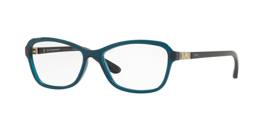 85ba2e521485e Óculos de Grau Grazi Massafera GZ3028B F347 Azul Translúcido Com Cristais  Da SWAROVSKI Lente Tam 51 R  219,99 à vista. Adicionar à sacola
