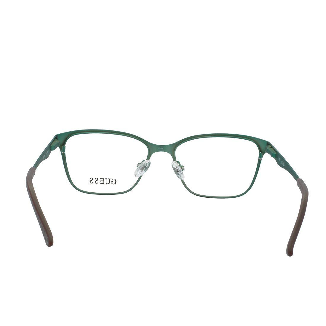 0e9252adb Óculos de Grau Guess Feminino GU2511 C049 T52 - Metal Marrom e Verde Militar  Fosco R$ 480,00 à vista. Adicionar à sacola