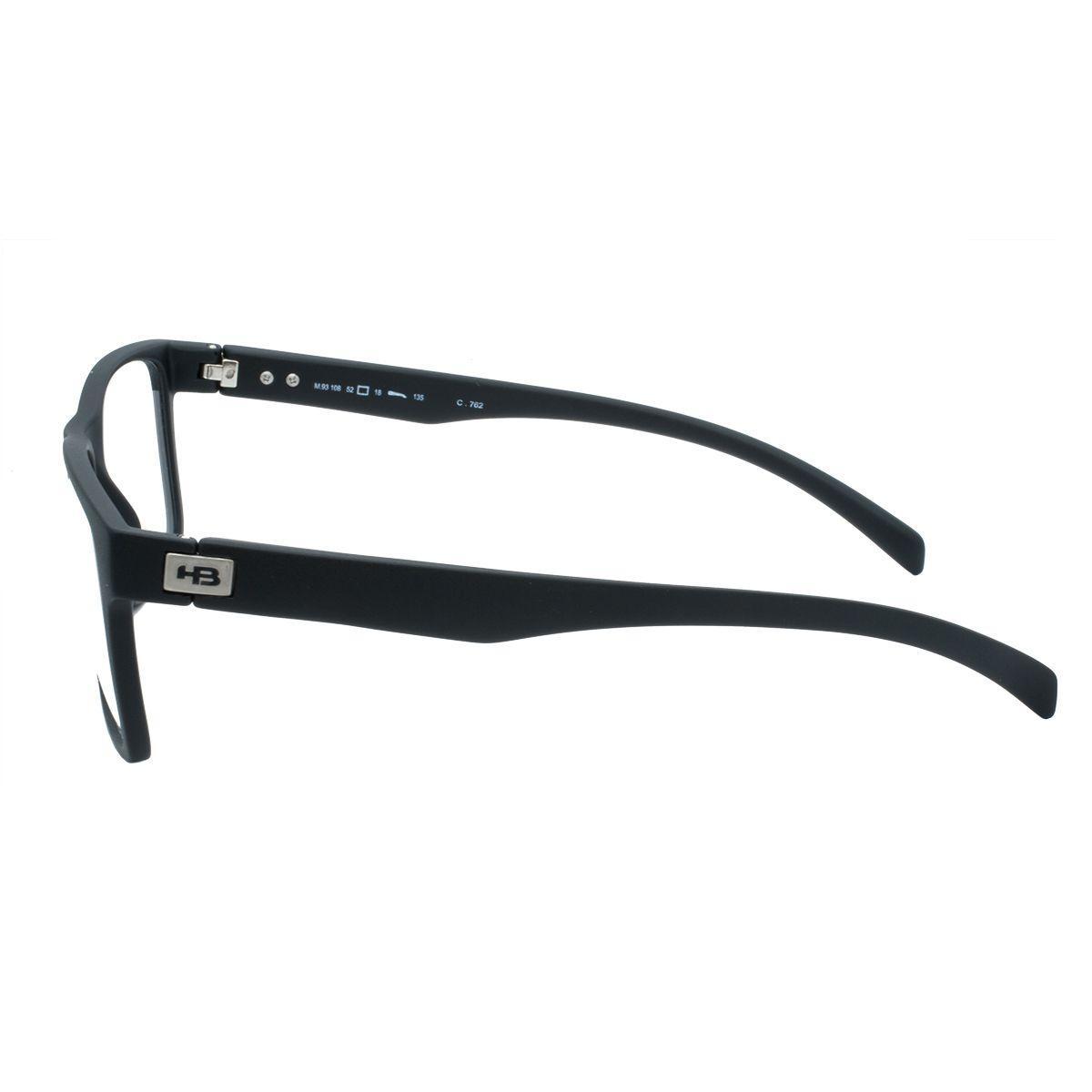b1a2bbaf6a010 Óculos de Grau HB Masculino Acetato Polytech Preto - M.93108 C762 - Hb -  hot butterd R  281,00 à vista. Adicionar à sacola