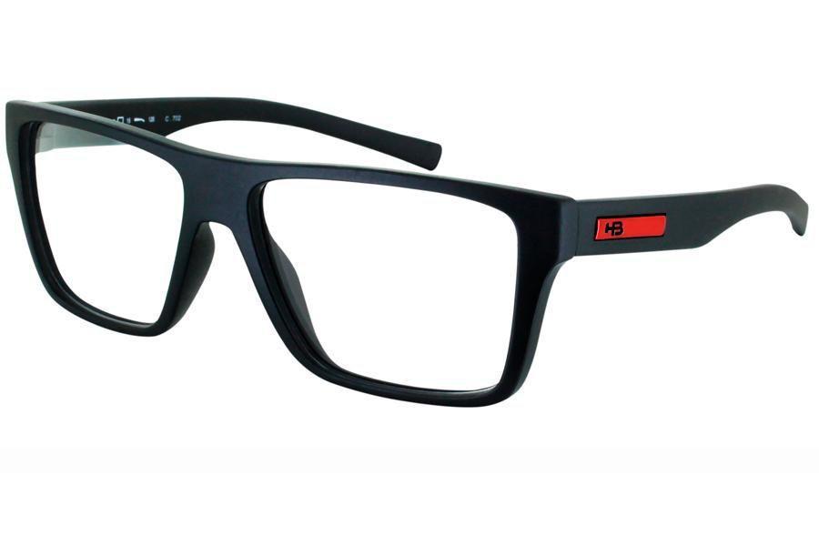 f6b83d95d Óculos de Grau HB Polytech Floyd Teen 93127/48 Preto Fosco/Vermelho Produto  não disponível