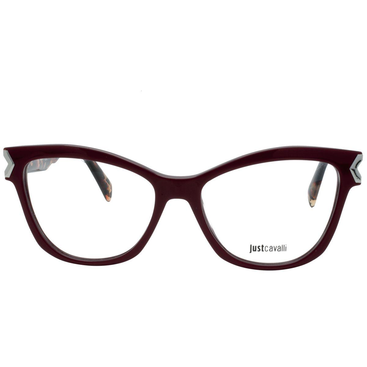 1b532400ddccb Óculos de Grau Just Cavalli Feminino JC0807 069 - Acetato Bordô R  554