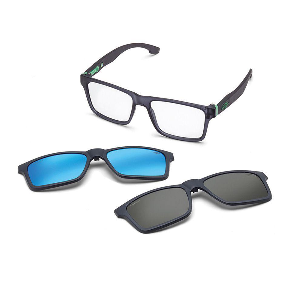 0bb6f561f7883 Óculos de grau mormaii rx swap clip on fumê lente polarizada cinza R   399