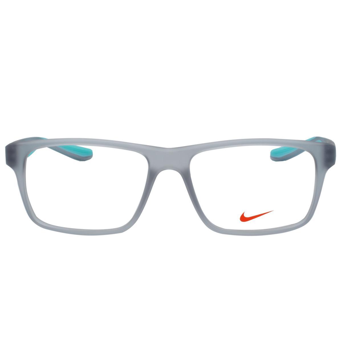c193237a1e629 Óculos de Grau Nike Masculino NIKE7101 050 - Acetato Cinza Translúcido e  Verde Água R  611,00 à vista. Adicionar à sacola