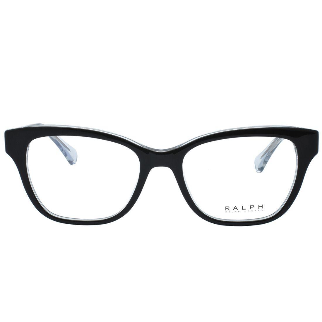 8e653384cd663 Óculos de Grau Ralph Feminino RA7099 5695 - Acetato Preto e Transparente -  Ralph lauren R  422