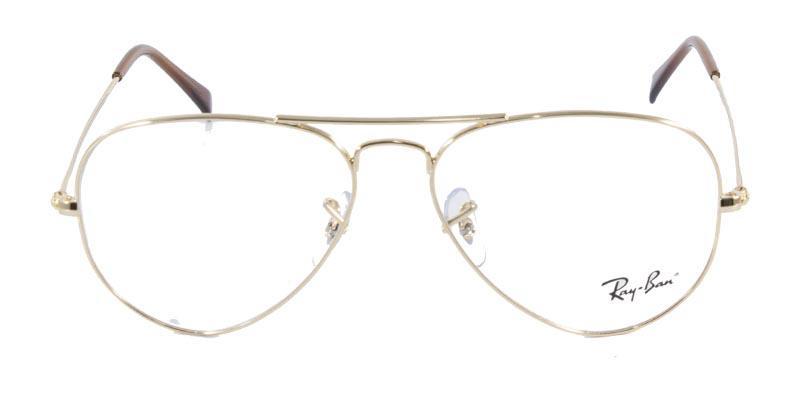 4106b1b00965d Óculos de Grau Ray Ban Aviator 6049 Ouro - Ray-ban R  329,99 à vista.  Adicionar à sacola