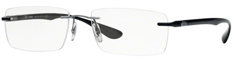 e61eaf91fdcab Óculos de Grau Ray-Ban Balgriff RX8724 1000 Titanio Grafite Lente Tam 56 R   499