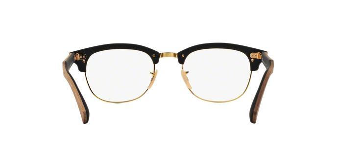 91242150d Óculos de Grau Ray Ban Clubmaster Wood RB5154 5560 Madeira Preto Lente Tam  51 - Ray-ban Produto não disponível