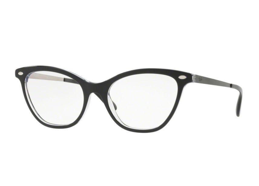 7f6d6448d0c4f Óculos De Grau Ray Ban Gatinho Preto RB5360 2034 Tam. 54 - Ray ban original  R  549