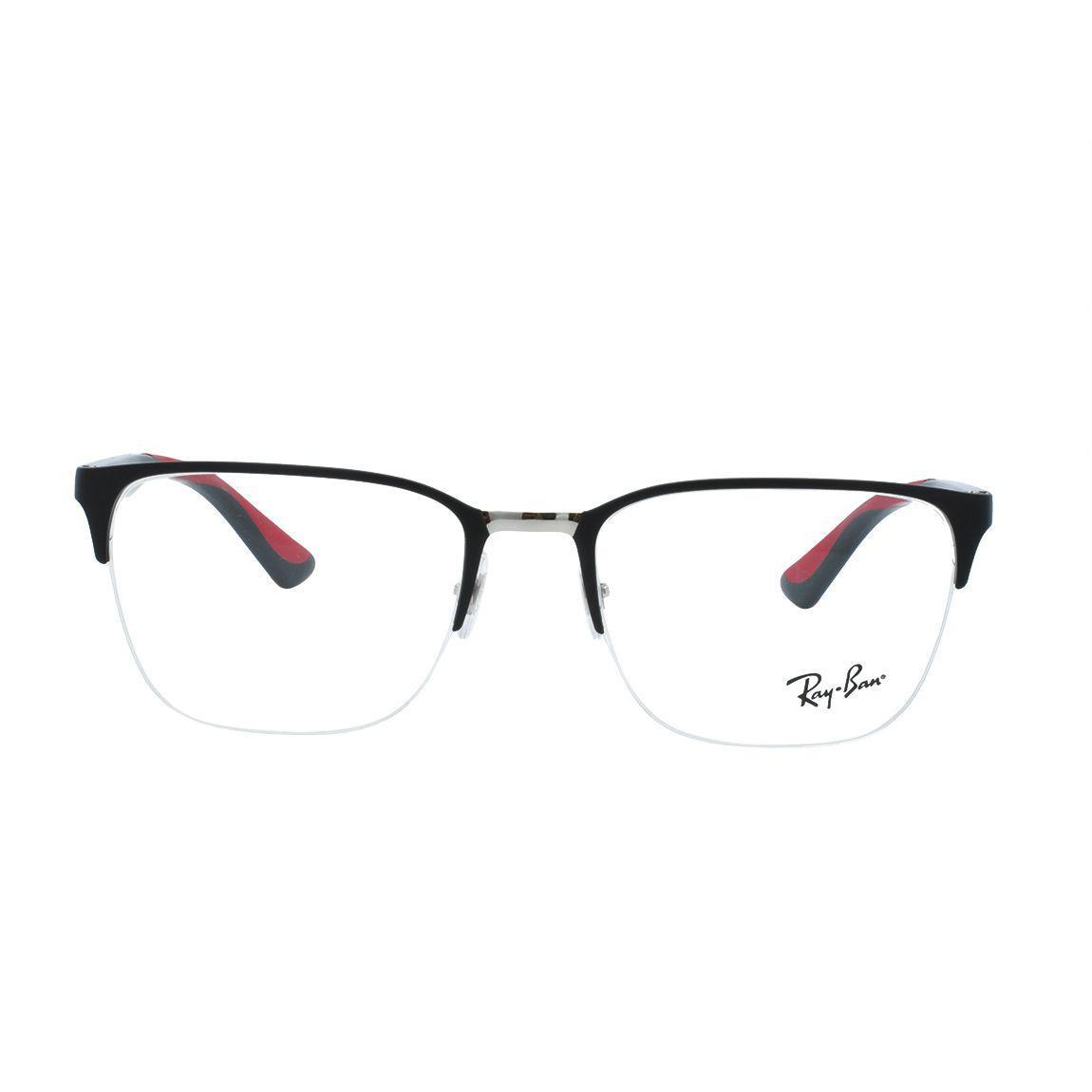 f1c5b0ae4ed7e Óculos de Grau Ray Ban Masculino Fio de Nylon RX6428 2997 - Acetato Preto R   498,00 à vista. Adicionar à sacola