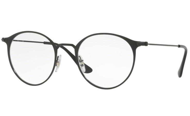 1cbfe151e0339 Óculos de Grau Ray Ban Round Metal RX6378 2904 Preto Lente Tam 49 - Ray-ban  R  359,99 à vista. Adicionar à sacola