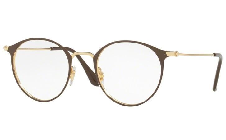5c1777518833d Óculos de Grau Ray Ban Round Metal RX6378 2905 Marrom Lente Tam 49 - Ray-ban  R  319,99 à vista. Adicionar à sacola