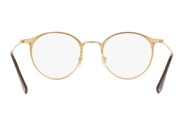 137b5b08f4b79 ... inexpensive Óculos de grau ray ban round metal rx6378 2905 marrom lente  tam 49 ray ban