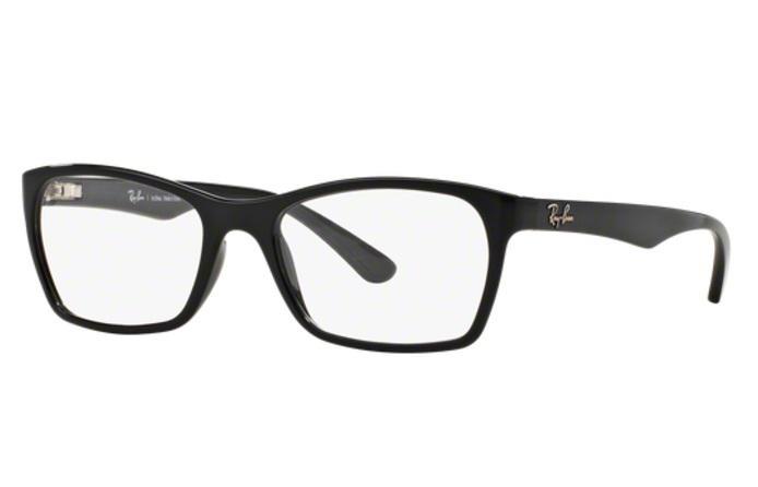 bab476dcbcda4 Óculos de Grau Ray Ban RX7033 2000 Preto Polido Lentes Tam 52 - Ray-ban R   234,99 à vista. Adicionar à sacola