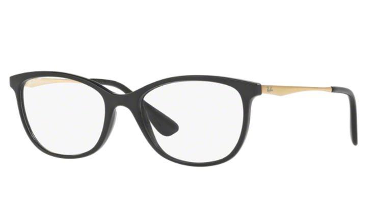 566b9b1766310 Óculos de Grau Ray Ban RX7106 5697 Preto Fosco Lentes Tam 53 - Ray-ban R   249,99 à vista. Adicionar à sacola