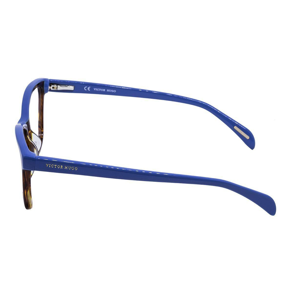 0d6cc72cd0ec9 Óculos de Grau Victor Hugo Feminino VH1733 COL.0752 - Acetato Azul e Tartaruga  Marrom R  701