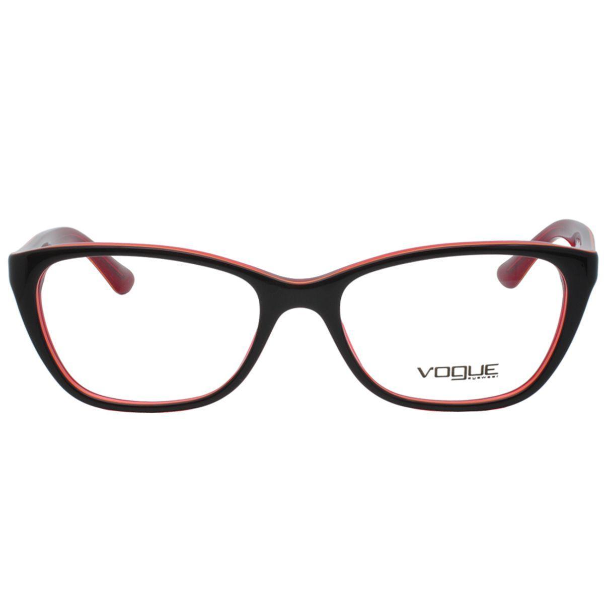 c380a9838665d Óculos de Grau Vogue Feminino VO2961 2312 - Acetato Vermelho Produto não  disponível