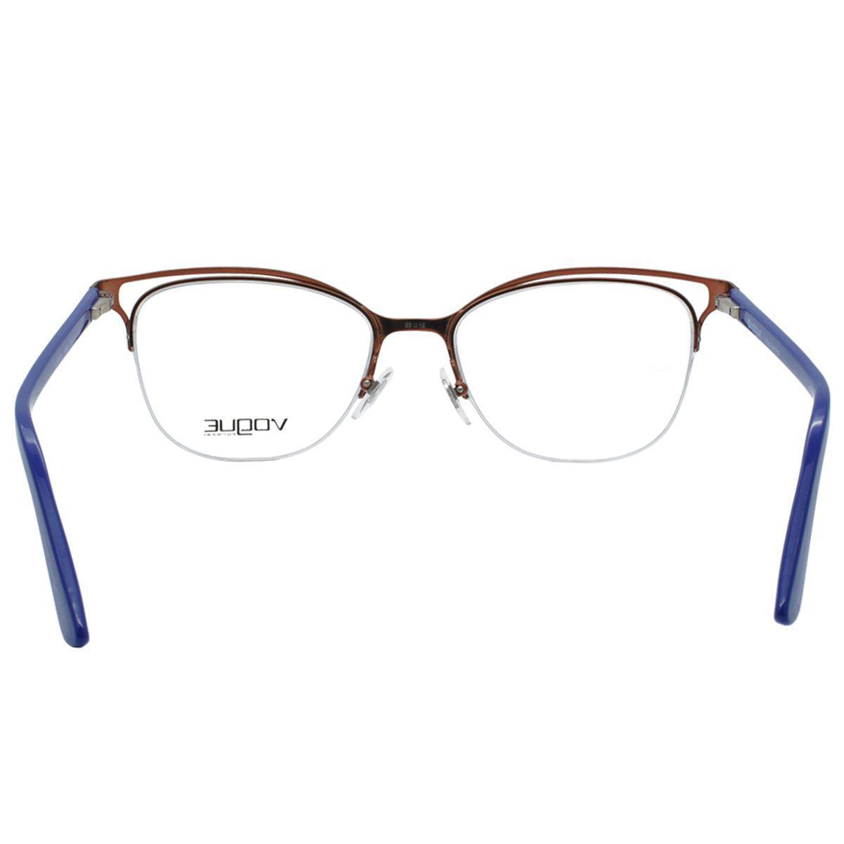 1676fcad6 Óculos de Grau Vogue Feminino VO4087L 5080 - Metal e Acetato Roxo R$ 494,00  à vista. Adicionar à sacola