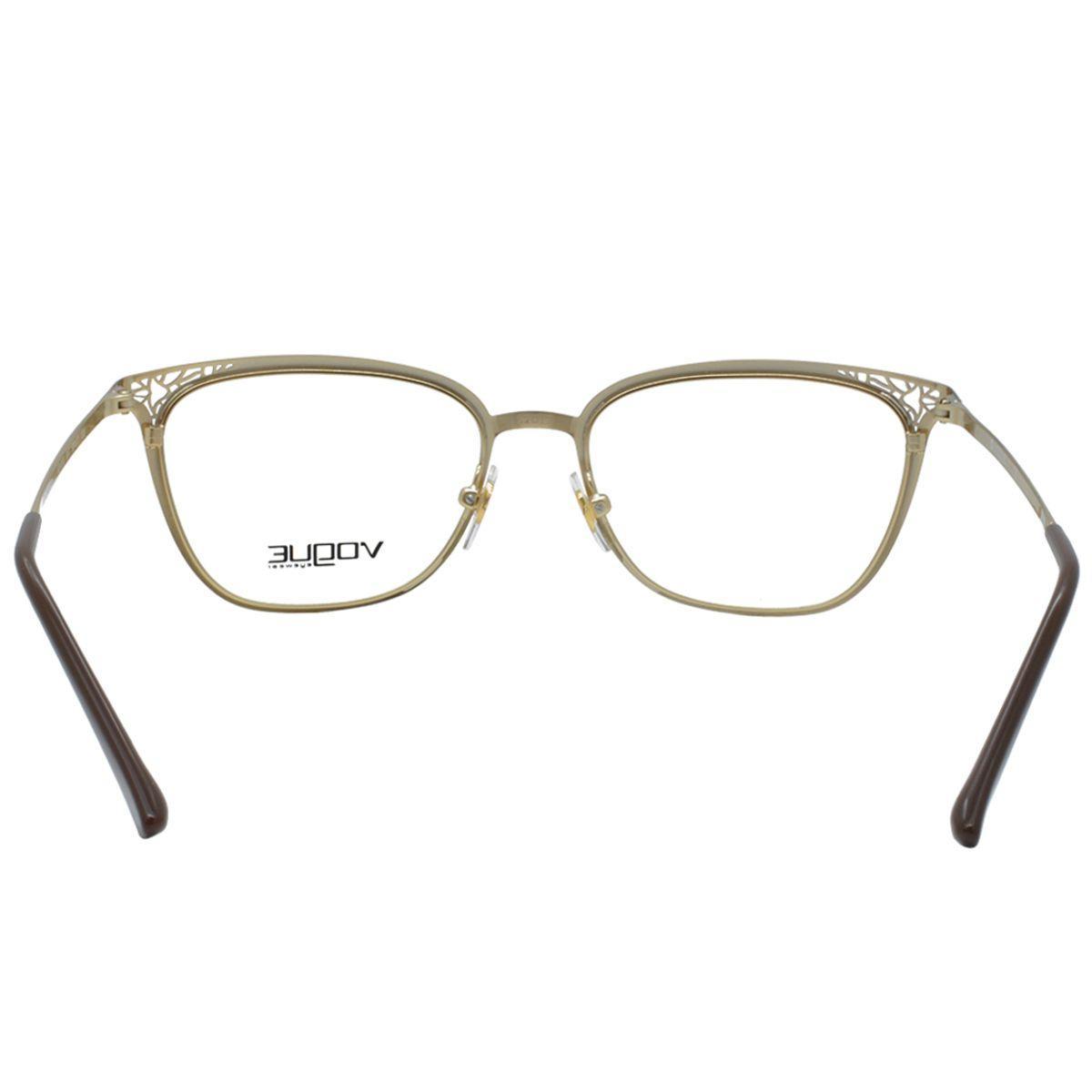 1006dc30bd4e3 Óculos de Grau Vogue Feminino VO4103 997 - Metal Marrom e Dourado Degradê  R  423