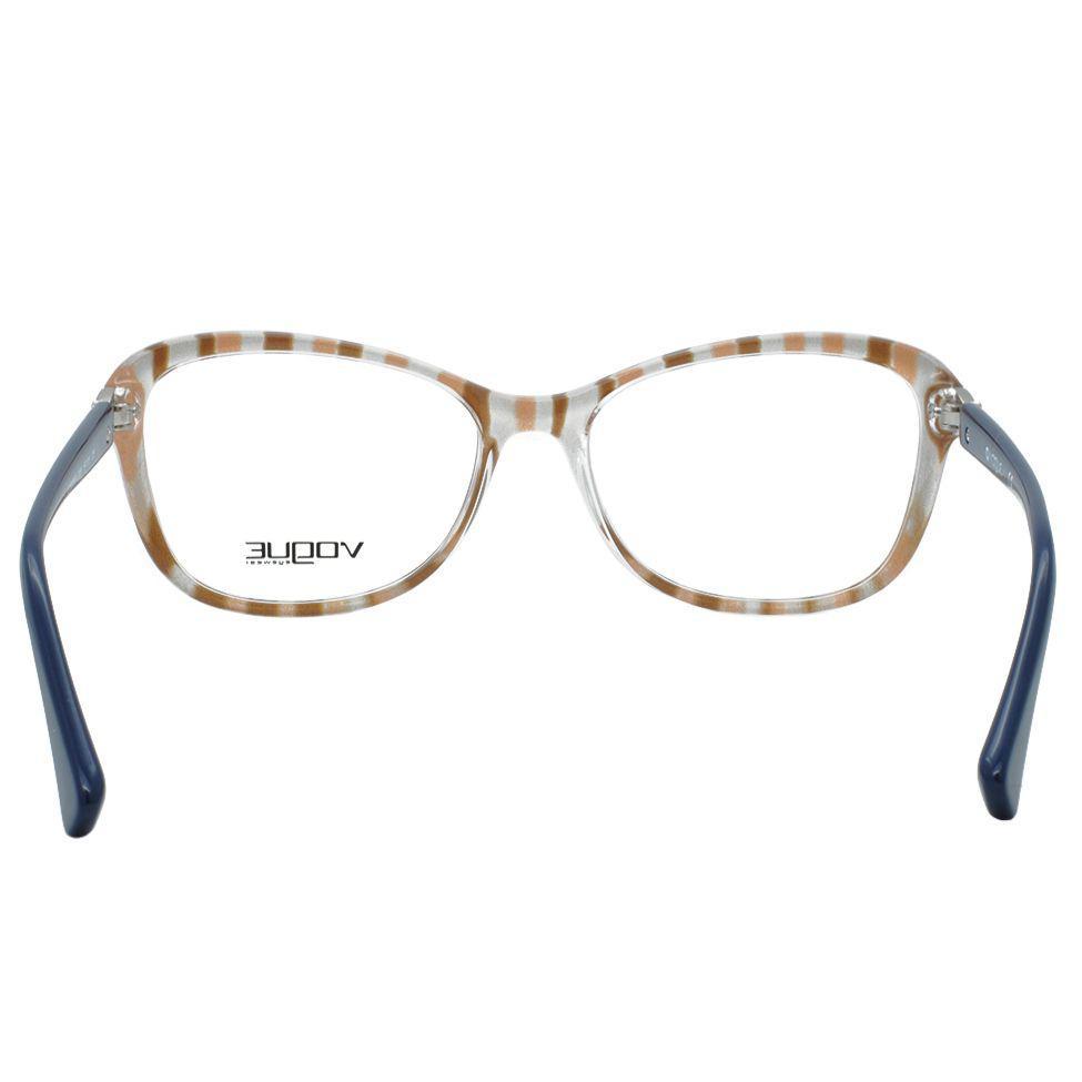 0598a3633e172 Óculos de Grau Vogue Feminino VO5095B 2466 - Acetato Azul Produto não  disponível