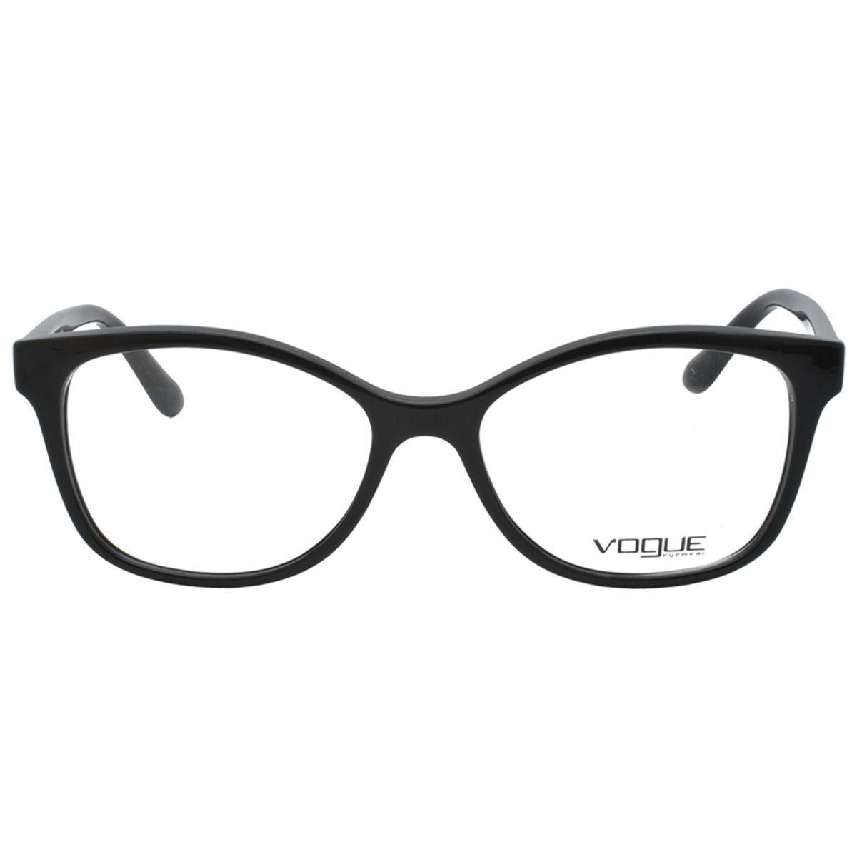 6b069d7b7718d Óculos de Grau Vogue Feminino VO5233L W44 - Acetato Preto - Óptica ...