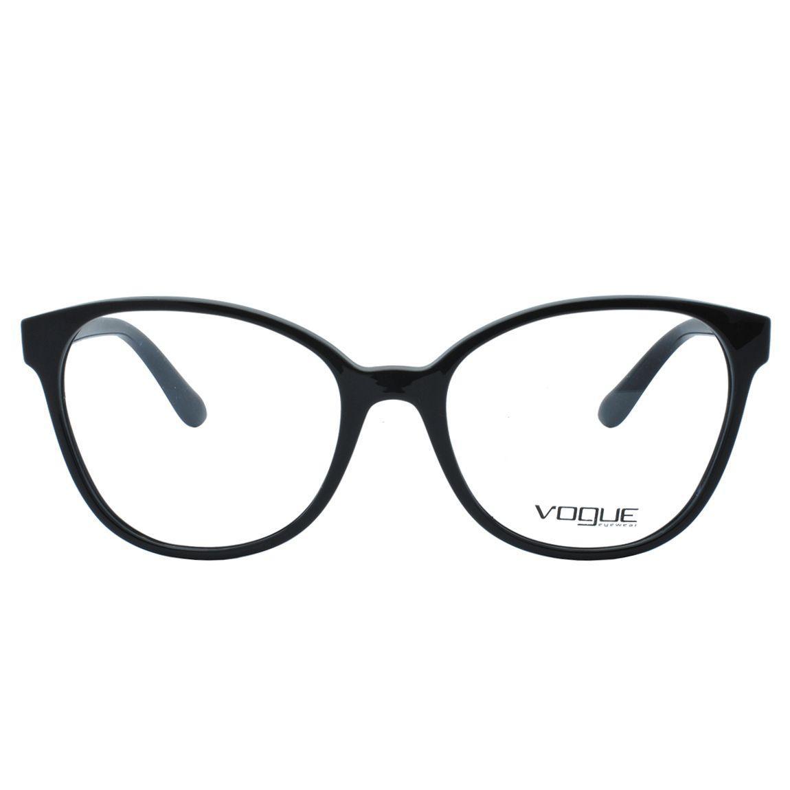 7444587c19399 Óculos de Grau Vogue Feminino VO5234L W44 - Acetato Preto - Óptica ...