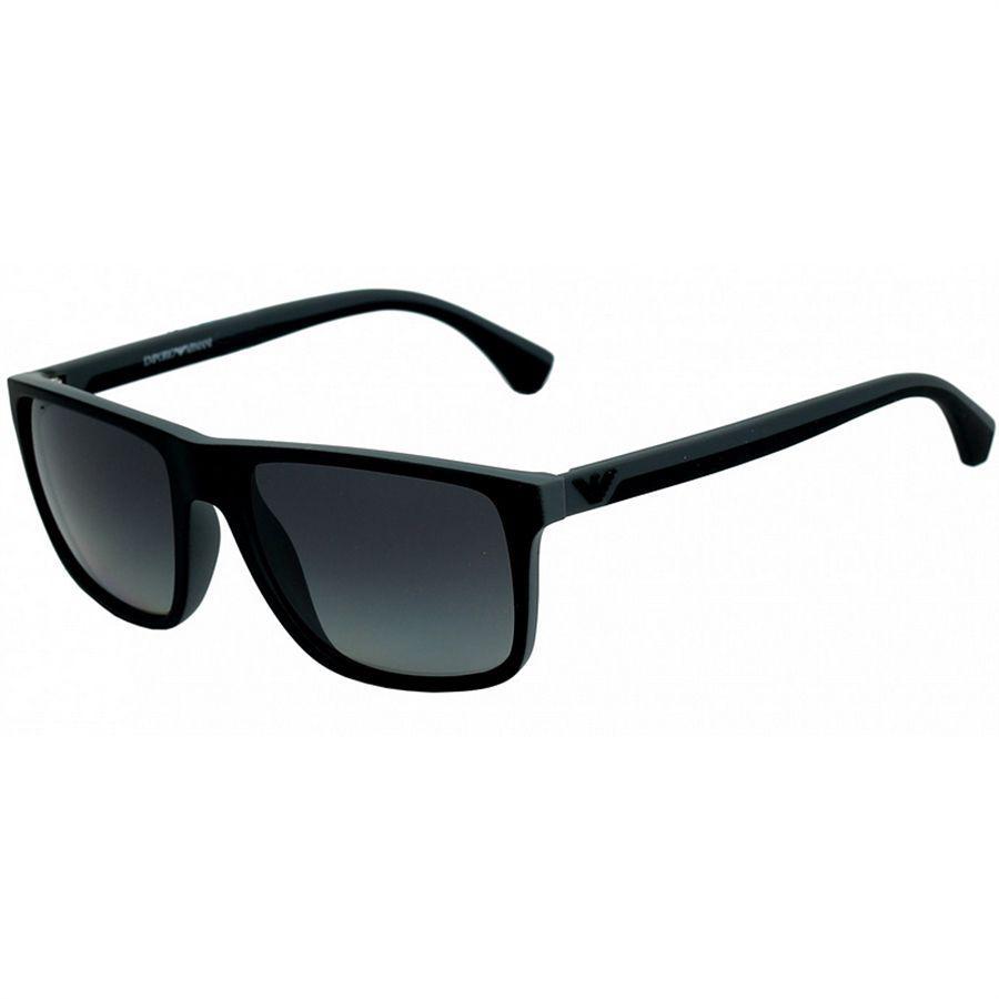 f922b989c7a33 Óculos de Sol Armani Preto com Cinza Lentes Cinza - Emporio Armani Produto  não disponível