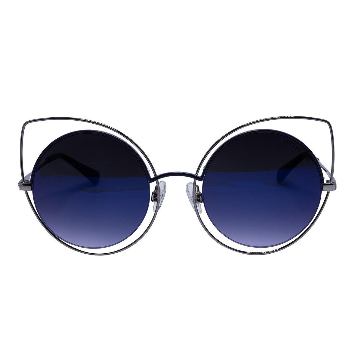 90fcaa23e927a Óculos de Sol Atitude Gatinha AT3181 - metal prata