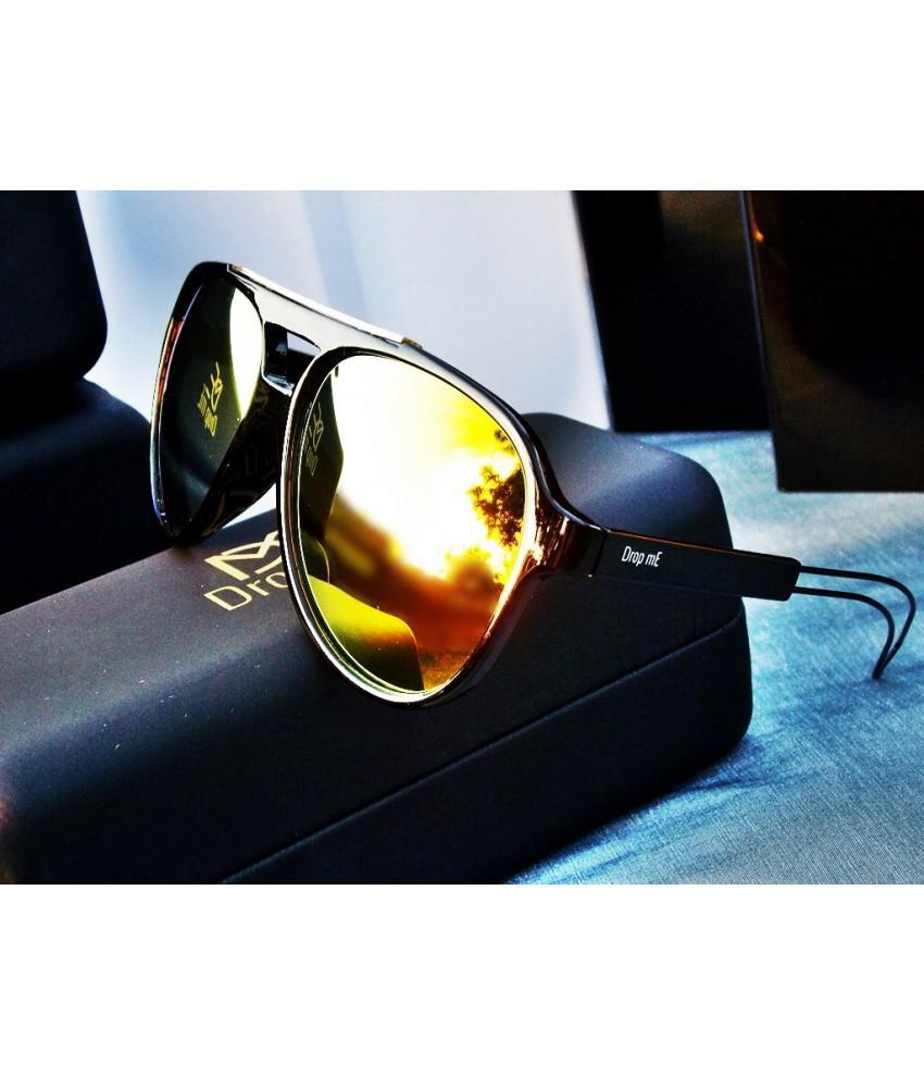 321d2b185 Oculos de sol aviador acetato preto espelhado amarelo unissex - Drop me  acessorios R$ 279,90 à vista. Adicionar à sacola