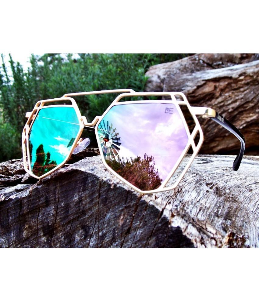 db7899d9a1e79 Oculos de sol aviador linhas retas drop me lente espelhada rose - Drop me  acessorios R  309