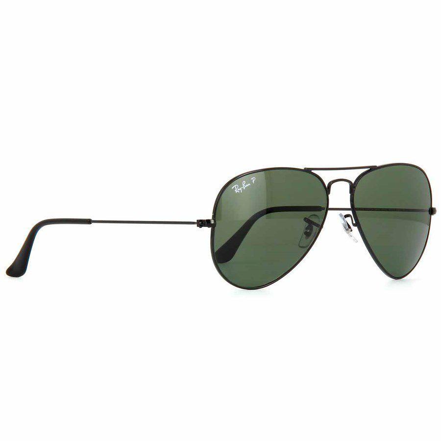 1c8c290c7 Óculos de Sol Aviador Ray Ban Unissex Preto Metal e Lentes Cinza Escuro  Polarizado - Ray-Ban Produto não disponível