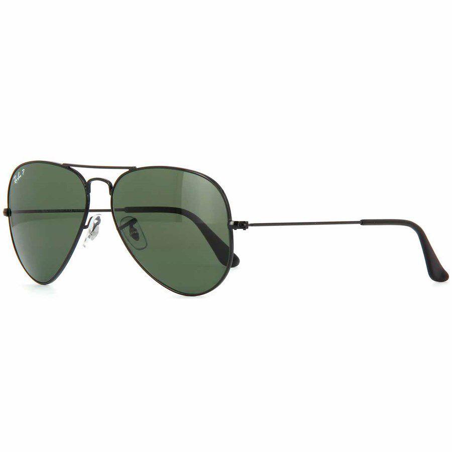 5b19f2bbe Óculos de Sol Aviador Ray Ban Unissex Preto Metal e Lentes Cinza Escuro  Polarizado - Ray-Ban - Óculos de Sol - Magazine Luiza