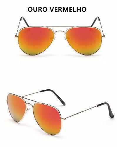 cd93ca3ec Óculos De Sol Bl Cor Ouro Vermelho - Vinkin R$ 49,99 à vista. Adicionar à  sacola