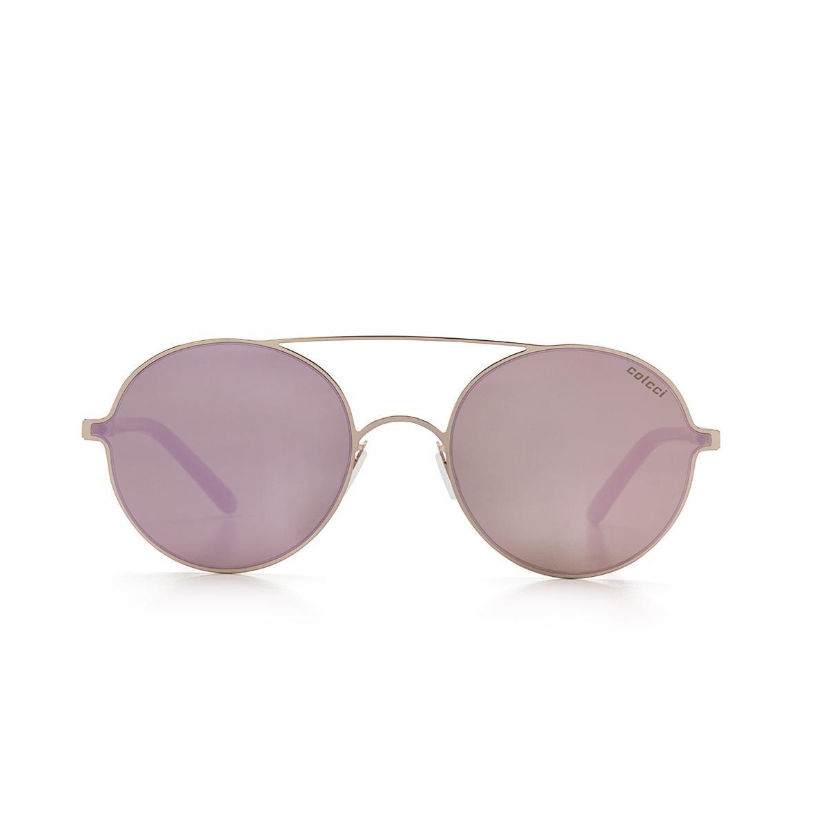 c3603a2569e25 Óculos De Sol Colcci C0100 Dourado Rose Lente Espelhada Rose R  179