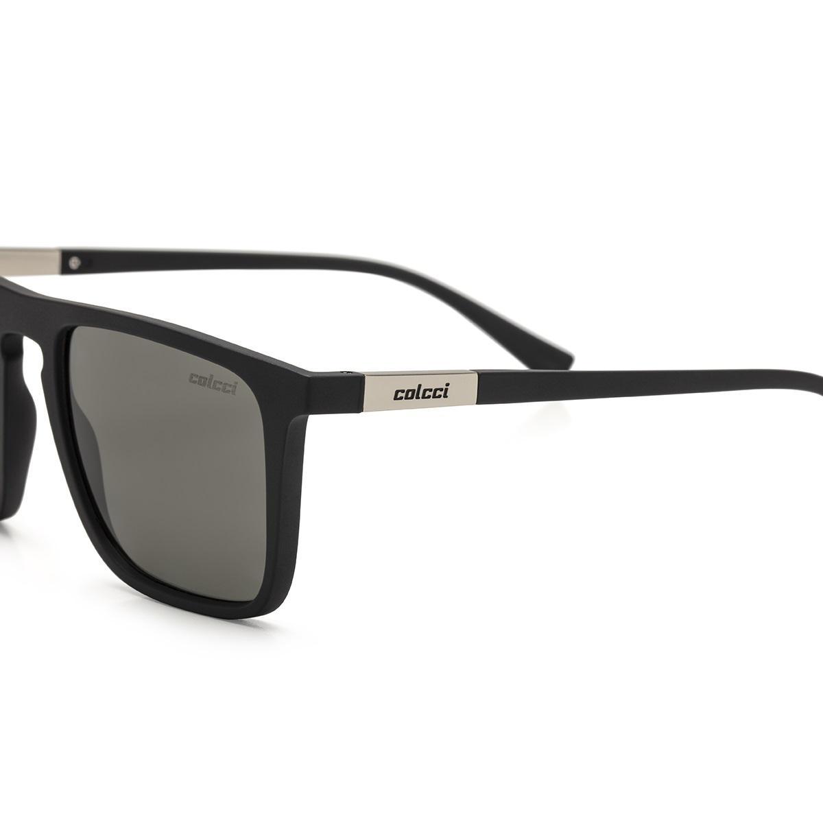 95d5f2556e524 Óculos De Sol Colcci C0130 Martin Preto Fosco Lente Verde Polarizada R   399,00 à vista. Adicionar à sacola