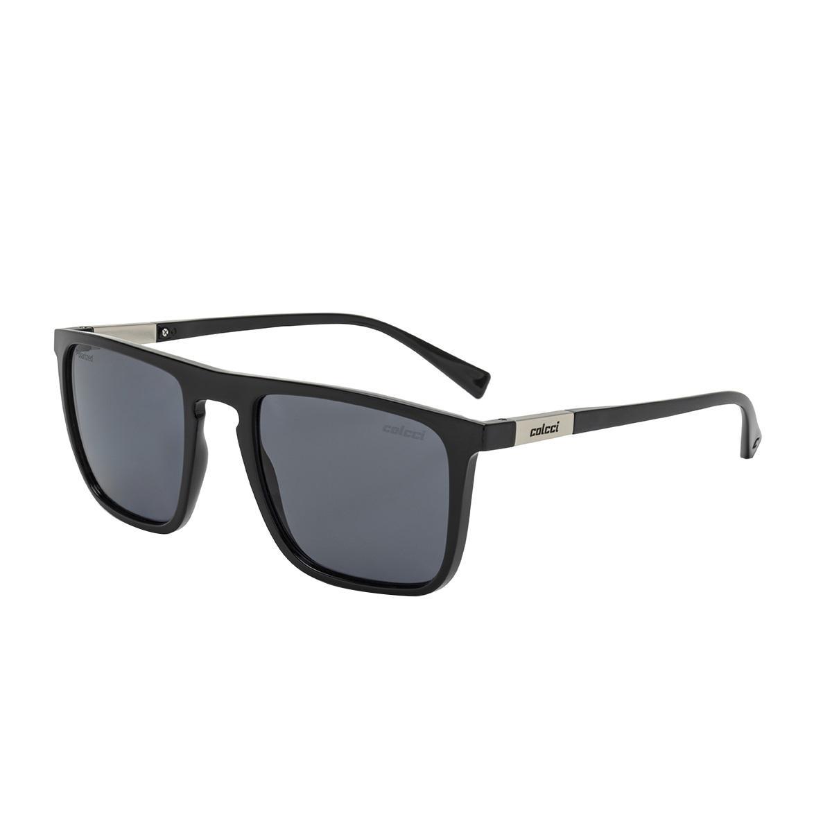 7dc4a702c0c6d Óculos De Sol Colcci C0130 Martin Preto Lente Cinza Polarizada R  399