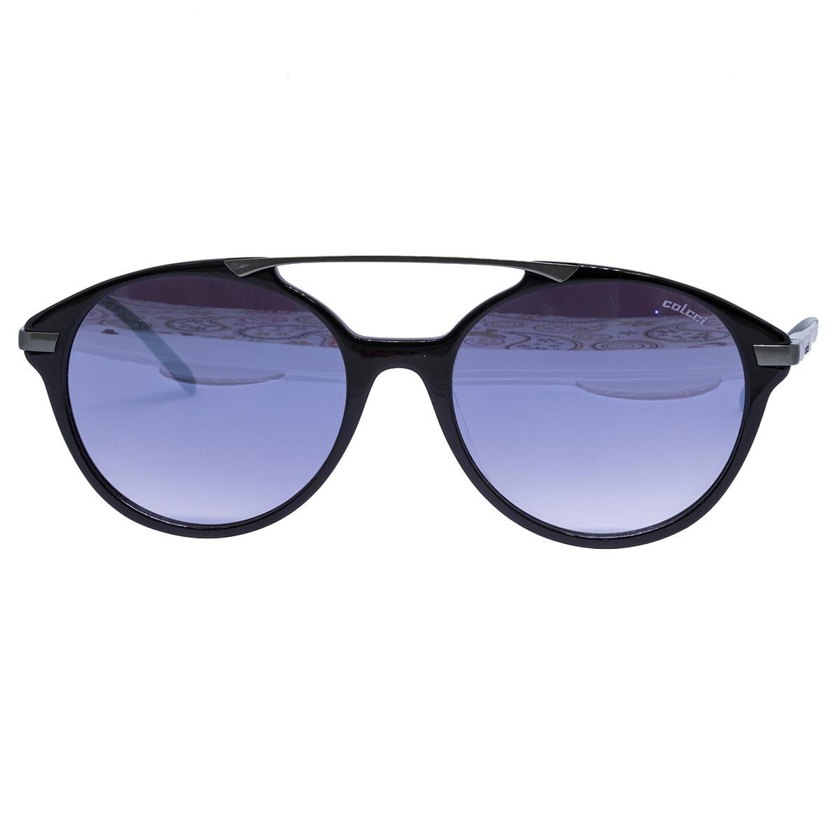 b057861c40e36 Óculos de Sol Colcci Feminino C0069 CA89 43 - Acetato Preto e Metal Bronze
